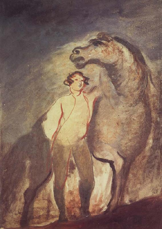 Sir David Wilkie Tempera undated one Standing by a Horse
